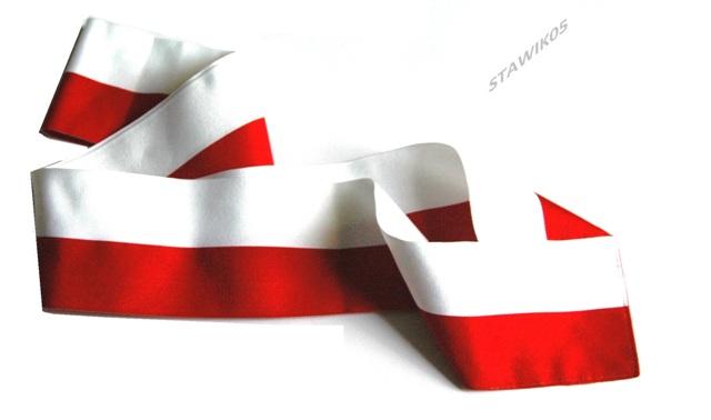 Super SZARFA biało - czerwona Poczet Sztandarowy BY09
